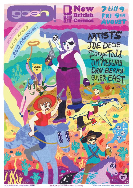 Gosh comics / Blankslatebooks poster