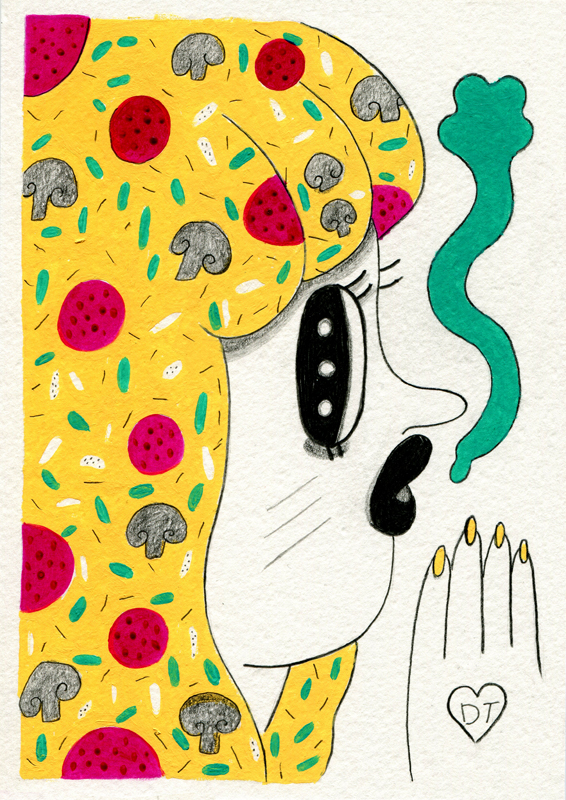 Private Commission - part of 'Pizza slut' range